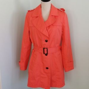 Banana Republic Coral Lined Trenchcoat  sz M